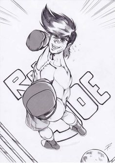 Rocky Joe ( © Kodansha 1968 - Asao Takamori , Tetsuya Chiba ) , my childhood hero.  #ruggine #rustysketches #riccardopieruccini #vintage#Rocky Joe#Manga#Anime#Joe Yabuki
