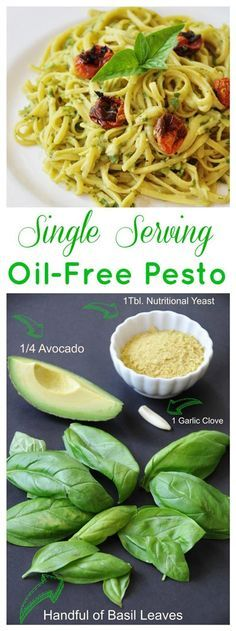 You only need four ingredients to make this delicious, healthy, low calorie pesto. #vegan #oil-free #healthy
