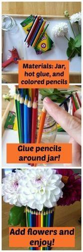 DIY Pencil Vase for Teachers -- we made it!