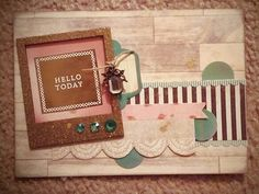 Hello today card...scrappinmylittleroyals.blogspot.com