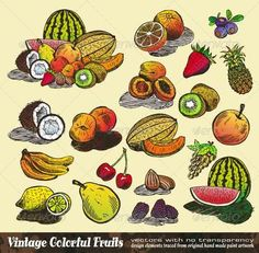 Vintage Colorful Fruits Collection #GraphicRiver Vintage Colorful Fruits Collection – Set of Various vector Design Elements created from original hand draw and ready to cut and paste. Created: 8October13 GraphicsFilesIncluded: JPGImage #VectorEPS Layered: Yes MinimumAdobeCSVersion: CS Tags: apple #apricot #banana #berry #cherry #clipart #collection #colorful #design #drawing #drawn #food #fresh #fruit #green #hand #hand-drawn #retro #rough #set #sketch #sketchy #strawberry #vector #vintage…