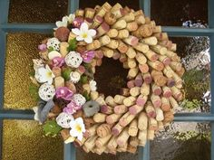 Summer Breeze Wine Cork Wreath