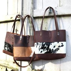 Leather and Cowhide Porter Tote brown leather tote brown image 0 Brown Leather Purses, Thick Leather, Leather Handbags, Leather Bags, Leather Backpacks, Leather Clutch, Cowhide Purse, Cowhide Leather, Macbook