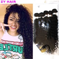 Cheveux Bresilien Curly Bundles Tissage Bresilien Avec Closure Kinky Curly Wave VirginHair with Free Bundle and Top Closure