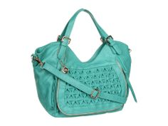 Turquoise ruffle purse