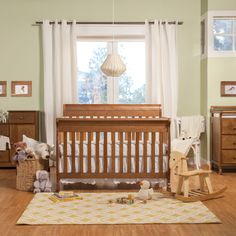 Perfect for your nursery, this Kalani crib features a beautiful finish and is constructed of a durable, sturdy New Zealand pine. As your baby grows, convert the crib to a day bed and then to a full size bed.