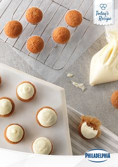 """These delicious little Cream Cheese Carrot Frosting Cupcakes are intentionally little, so annoying things like """"New Years Resolutions"""" don't get in the way. Make them a 2016 favourite!"""