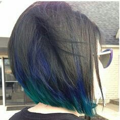 There is a new hair color trend in 2019 and it really has the wow factor. Peacock hair color is set to be big for the summer so check out some of the best looks Black Hair With Highlights, Color Highlights, Hair Highlights, Black Hair Blue Tips, Purple Hair, Brown Hair With Blue, Purple Peekaboo Hair, Purple Peekaboo Highlights, Purple Streaks