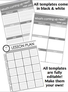 Special Education Resource Teacher Semi Editable Yearly Planner
