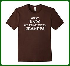 Mens GREAT DADS GET PROMOTED TO GRANDPA Large Brown - Relatives and family shirts (*Amazon Partner-Link)