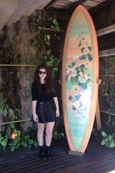 A cantora Lorde na loja Farm, em São Paulo (Foto: Divulgação)