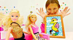Барби отмечает день рождения.Видео для детей.Поделки из пластилина:рамоч...