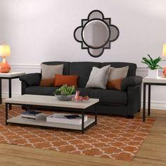 Montero Microfiber Convert-a-Couch Futon Sofa Sleeper Bed, Multiple Colors, Gray
