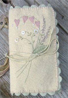 Felt embroidery envelope -- to hold all of your embroidery supplies.
