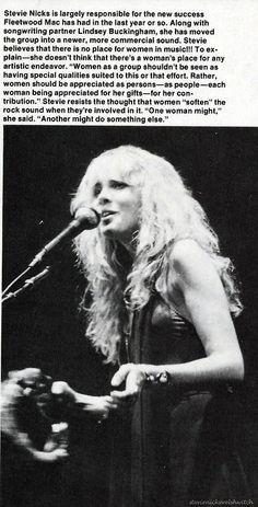 """Stevie Nicks, Fleetwood Mac, 1977, """"Rumours"""""""