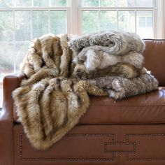 Wild Mannered Faux Fur Throw Collection