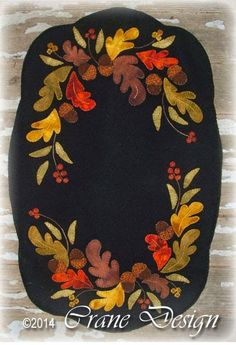 Oak'nBerry Pattern. Designed & stitched by Jan Mott of Crane Design. Check out my blog spot to see shops that offer this pattern.