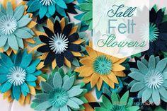 She's {kinda} Crafty: 20 Minute Tuesday | Fall Felt Flowers
