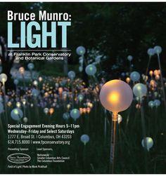 Bruce Munro: Light at Franklin Park Conservatory, Columbus, OH. Opens September 25!