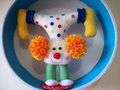 ... Felt Diy, Felt Crafts, Diy And Crafts, Arts And Crafts, Circus Birthday, Circus Party, Felt Doll Patterns, Felt Wreath, Ideas Para Fiestas