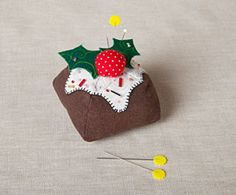 Our Week 5 free pattern for the 12 Weeks of Christmas series is now available! Download the FREE pattern for this adorable Figgy Pudding Pincushion exclusively at Connectingthreads.com  #12woc