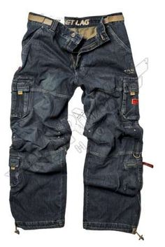 Pantaloni lunghi cargo jeans Safety denim