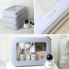 Our clear cosmetic case is designed to hold all your travel beauty essentials and get them through airport security hassle-free when travelling with a carry-on. But our beauty pouches are also perfect for organizing your bathroom cabinet at home: thanks to the transparent panels you will never lose sight of your beauty favorites. Travel in style and be clearly organized at home with our transparent cosmetic bags.