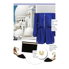 Jumpsuit: SheIn (5/3) by merima-kopic on Polyvore featuring Charlotte Olympia and shein