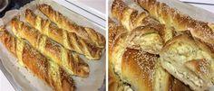 Αφράτο τυρόψωμο!! Χορταστικό σνακ για όλες τις ώρες !!! Brunch, Greek Cooking, Bread Cake, Food Crafts, Pavlova, Greek Recipes, Creative Food, Food To Make, Food Processor Recipes