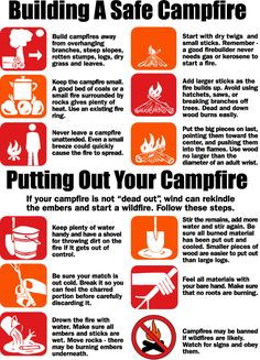 Building Putting out a Safe Campfire Although I don't agree with touching it, most of these are good points.