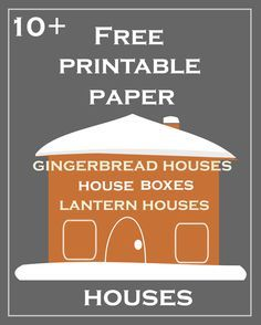 free printable DIY Christmas paper houses ♥ – free lantern houses, gingerbread houses, gift box houses, ornament houses