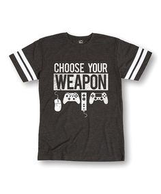Loving this Heather Charcoal 'Choose Your Weapon' Football Tee - Men's Regular on #zulily! #zulilyfinds