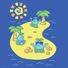 Coconut Party By Jaime Ugarte, today at The Yetee!