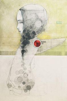 Ryan Price - red wing Ryan Price, Red Wing, Surreal Art, Moleskine, Figurative Art, Painting Inspiration, Sketching, Printmaking, Surrealism