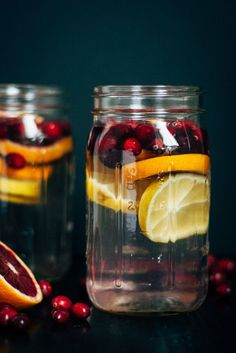 Cranberry Orange Detox Water   Well and Full   #vegan #detox