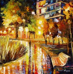 Beautiful Oil painting By Leonid Afremov.