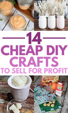 Cheap Homemade crafts to sell! I love all of these trending crafts to sell in These will be the most popular craft fair items that are sure to sell out quick! The post 14 Cheap Homemade Crafts To Sell For A Profit appeared first on Easy Crafts. Easy Diy Crafts, Diy Crafts To Sell, Diy Craft Projects, Diy Crafts For Kids, Fun Crafts, Simple Crafts, Sell Diy, Craft Ideas, Craft Fair Ideas To Sell
