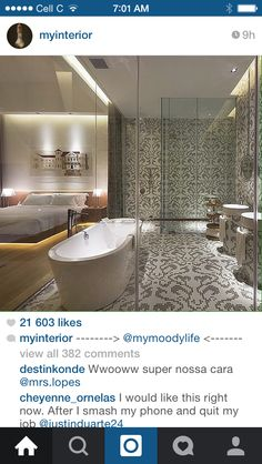 Love the tile design and glass
