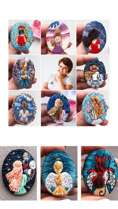 Посмотреть Embroidery Girl brooch by VyshivkaKoch - Embroidery art Hand Embroidery Videos, Embroidery On Clothes, Embroidery Jewelry, Modern Embroidery, Hand Embroidery Patterns, Beaded Embroidery, Brooches Handmade, Handmade Jewelry, Diy Tie Dye Techniques