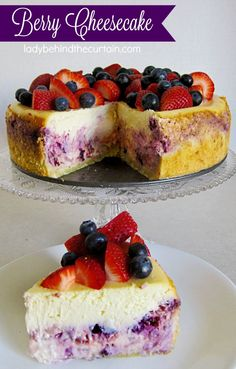 Berry Cheesecake | Celebrate Valentine's Day with the perfect dessert!