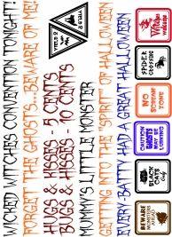 Free Scrapbook Elements - & tons of Halloween Titles