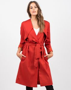The belted trench goes great over anything and everything