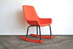Mid Century Orange Rocking Chair - Shamrock Neatway Eames Era Childrens Rocking Chair on Etsy, 64,31 €
