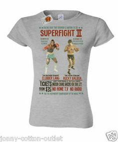 I love the yellow one, grey one and green one of these - Rocky Balboa v Clubber Lang boxing ladies T-shirt womens inspired by Rocky 37 | eBay