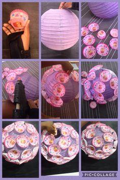 DIY Cinese lamp with cupcake baking cup