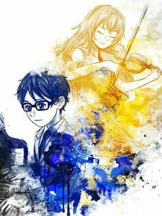 Arima Kousei and Miyazono Kaori - Your lie in April / Shigatsu wa Kimi no Uso Your Lie In April, I Love Anime, Me Me Me Anime, Manga Drawing, Manga Art, Hikaru Nara, Manga Anime, Anime Play, Miyazono Kaori