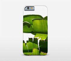 Banana Leaf Phone Case Tropical Cell Phone Mixed by Macrografiks