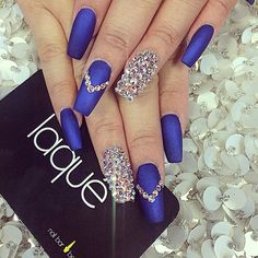 I'm in love with this blue - laquenailbar's photo on Instagram