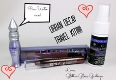 Pin to win! Details here     http://www.glitterglossgarbage.com/pin-it-to-win-it-urban-decay-travel-essentials-kit-us-only/