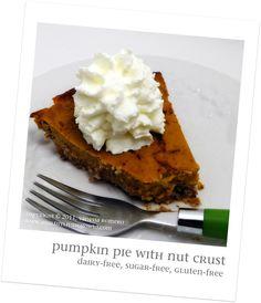 Pumpkin Pie with Nut Crust